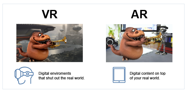 AR VR compared